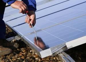 Unterkonstruktion einer Photovoltaikanlage
