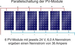 Parallelschaltung bei netzgekoppelten Photovoltaikanlagen