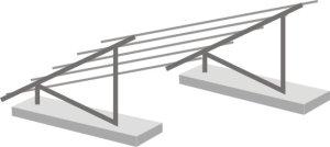 Schwerlastfundament für die PV-Freiflächenanlage
