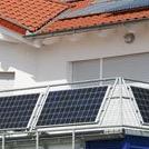 Geländer mit Photovoltaik